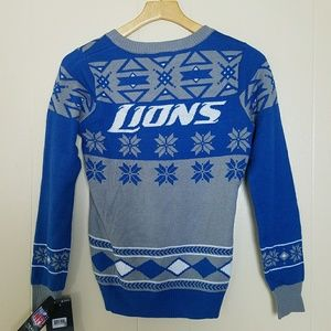 Detroit Lions ugly Christmas sweater womens size S